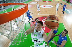 Gasper Vidmar of Slovenia during basketball match between National teams of Slovenia and Bosna and Herzegovina in day 1 of Adecco cup, on August  3, 2012 in Arena Stozice, Ljubljana, Slovenia. (Photo by Vid Ponikvar / Sportida.com)