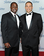 "Former NFL players Moe Williams and Robert Smith is seen on the red carpet at the Starkey Hearing Foundation's ""So the World May Hear"" Awards Gala on Sunday, July 20, 2014 in St. Paul, Minn. (Photo by Diane Bondareff/Invision for Starkey Hearing Foundation/AP Images)"