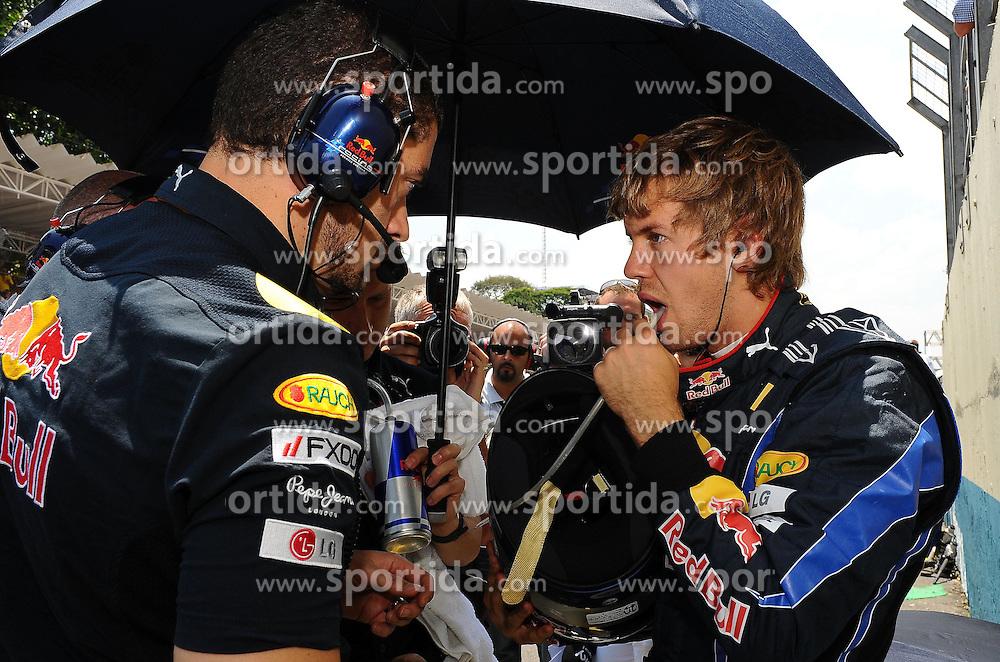 07.11.2010, Interlagos, Sao Paulo, BRA, Formula One Championships 2010, Sao Paulo, im Bild .Sebastian Vettel (GER) Winner, Red Bull Racing .EXPA Pictures © 2010, PhotoCredit: EXPA/ InsideFoto/ Hasan Bratic +++++ ATTENTION - FOR AUSTRIA AND SLOVENIA CLIENT ONLY +++++