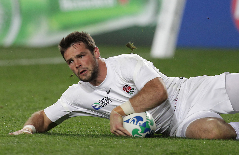 England's Ben Foden touches down a try against France during quarter-final 2 match of the Rugby World Cup 2011, Eden Park, Auckland, New Zealand, Saturday, October 08, 2011.  Credit:SNPA / David Rowland