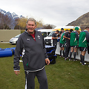 Patrick 'Rala' O'Reilly, the squad's long-serving baggage master, at the Irish team training at The Queenstown Events Centre in preparation for the IRB Rugby World Cup. The team are based in Queenstown for the early part of the tournament.  Queenstown, New Zealand, 4th September 2011. Photo Tim Clayton...