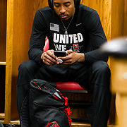 10 March 2018: San Diego State men's basketball takes on New Mexico in the Mountain West Conference championship game. <br /> More game action at www.sdsuaztecphotos.com
