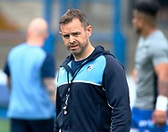 Cardiff Blues' Head Coach Danny Wilson during the pre match warm up<br /> <br /> Photographer Simon King/Replay Images<br /> <br /> European Rugby Challenge Cup - Semi Final - Cardiff Blues v Pau - Saturday 21st April 2018 - Cardiff Arms Park - Cardiff<br /> <br /> World Copyright &copy; Replay Images . All rights reserved. info@replayimages.co.uk - http://replayimages.co.uk