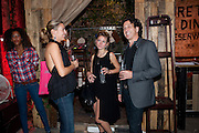 ASSIA WEBSTER; AMY WEBSTER; STEPHEN WEBSTER-, STEVE LAZARIDES LAUNCHES ÔMINOTAURÕ Ð A LABYRINTHINE EXHIBITION TAKING OVER THE OLD VIC TUNNELS OVER FRIEZE WEEK FROM 11-25 OCTOBER. Waterloo. London. 10 October 2011. <br /> <br />  , -DO NOT ARCHIVE-© Copyright Photograph by Dafydd Jones. 248 Clapham Rd. London SW9 0PZ. Tel 0207 820 0771. www.dafjones.com.<br /> ASSIA WEBSTER; AMY WEBSTER; STEPHEN WEBSTER-, STEVE LAZARIDES LAUNCHES 'MINOTAUR' – A LABYRINTHINE EXHIBITION TAKING OVER THE OLD VIC TUNNELS OVER FRIEZE WEEK FROM 11-25 OCTOBER. Waterloo. London. 10 October 2011. <br /> <br />  , -DO NOT ARCHIVE-© Copyright Photograph by Dafydd Jones. 248 Clapham Rd. London SW9 0PZ. Tel 0207 820 0771. www.dafjones.com.
