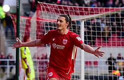Milan Djuric of Bristol City celebrates   - Mandatory by-line: Joe Meredith/JMP - 04/02/2017 - FOOTBALL - Ashton Gate - Bristol, England - Bristol City v Rotherham United - Sky Bet Championship