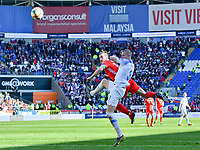 Football - 2018 / 2019 Euro Championship 2020 qualifying round. Wales v SLOVAKIA <br /> <br /> <br /> Gareth Bale of Wales heads at goal at Cardiff City Stadium<br /> <br /> COLORSPORT/WINSTON BYNORTH