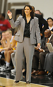 Dec 3, 2009; Long Beach, CA, USA; Long Beach State 49ers coach Jody Wynn reacts during the game against the Southern California Trojans at the Walter Pyramid. USC defeated Long Beach State 83-77.