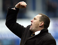 Photo: Chris Ratcliffe.<br />Luton Town v Watford. Coca Cola Championship.<br />02/01/2006.<br />Adrian Boothroyd celebrates the win.