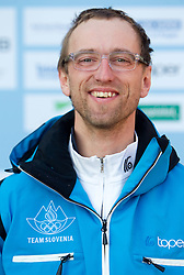 Coach Miha Babsek at Official photo of  Slovenia Cross-country Skiing team for  European Youth Olympic Festival (EYOF) in Liberec (CZE) at official presentation, on February  9, 2011 at Bled Castle, Slovenia. (Photo By Vid Ponikvar / Sportida.com)