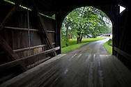 A covered bridge leading to the 1900 Village where a 30 building re-creation based on Wisconsin villages a century ago. .Horse Drawn Days was held Saturday, June 12, 2010 at Stonefield Historic Site near Cassville, Wisconsin.
