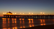 Manhattan Beach Pier at night, Manhatan Beach California, USA<br /> August 8th, 2009<br /> Copyright Don Liebig