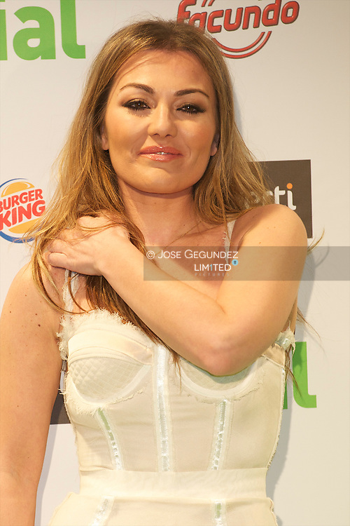 Amaia Montero attends the photocall of Cadena Dial Awards 2011 at Adan Martinez Auditorium in Tenerife, Spain