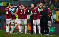 Football - 2019 / 2020 Premier League - Burnley vs. Leicester City<br /> <br /> Sean Dyche manager of Burnley at Turf Moor.<br /> <br /> COLORSPORT