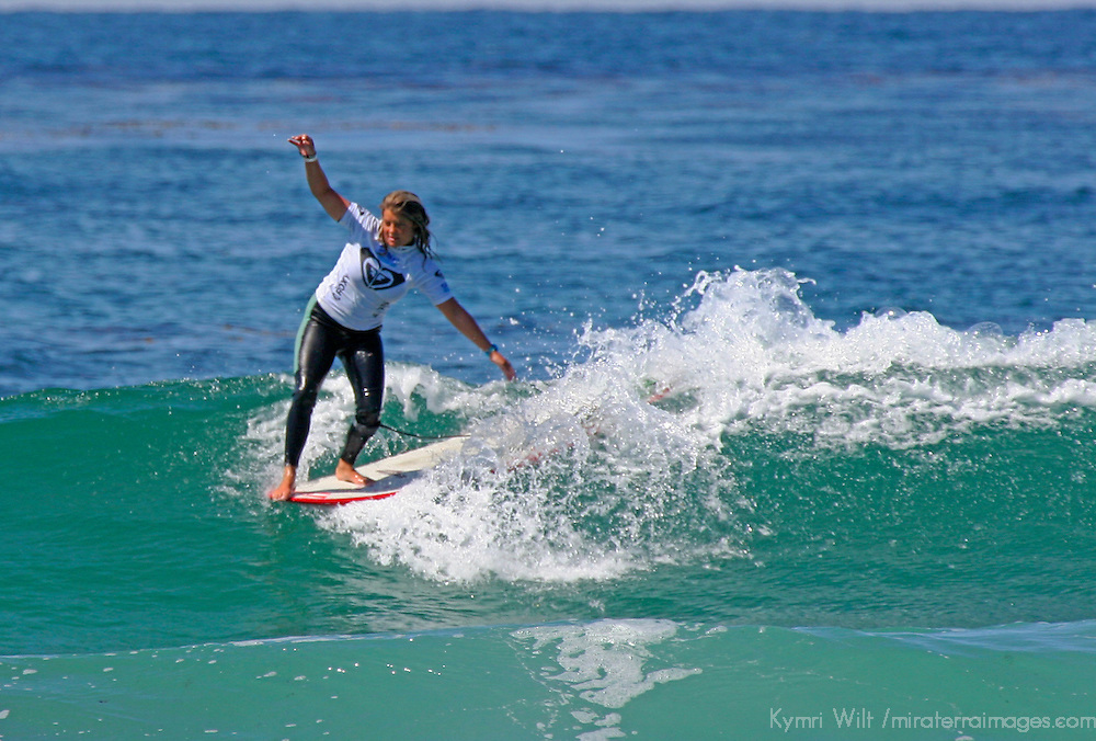 Chelsea Williams, 3rd Place finalist winner of the 3rd Annual Roxy Jam Linda Benson Women's World Longboard Professional, 2008, Cardiff by the Sea, California.