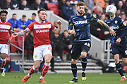 Leeds United midfielder Mateusz Klich (43) battles for the ball during the EFL Sky Bet Championship match between Bristol City and Leeds United at Ashton Gate, Bristol, England on 9 March 2019.