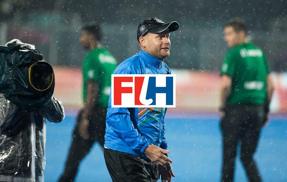 BHUBANESWAR -  Hockey World League finals , Semi Final . Argentina v India. coach Sjoerd Marijne (Ind).  COPYRIGHT KOEN SUYK