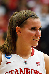 March 21, 2011; Stanford, CA, USA; Stanford Cardinal guard Jeanette Pohlen (23) celebrates after the game against the St. John's Red Storm during the second round of the 2011 NCAA women's basketball tournament at Maples Pavilion. Stanford defeated St. John's 75-49.