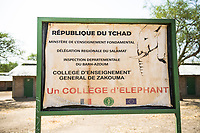School built by African Parks, Zakouma National Park, Chad
