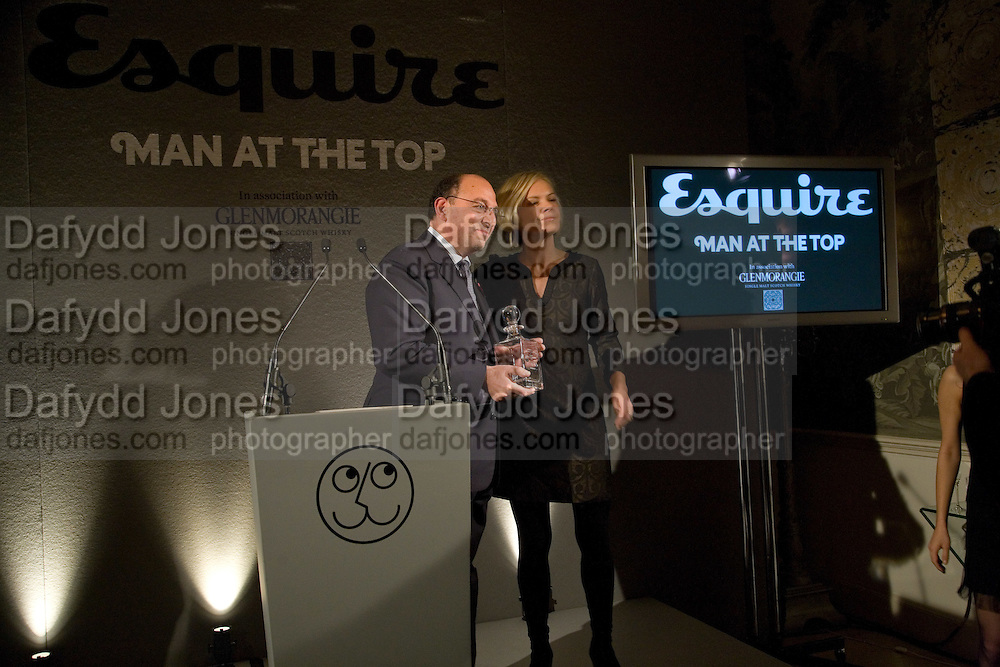 BIUSINESS THINKER; RALPH COHEN; MARIELLA FROSTRUP,  Esquire Man at the Top Awards 2008. Haymarket Hotel. London. 3 November 2008 *** Local Caption *** -DO NOT ARCHIVE -Copyright Photograph by Dafydd Jones. 248 Clapham Rd. London SW9 0PZ. Tel 0207 820 0771. www.dafjones.com