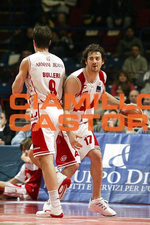 DESCRIZIONE : Milano Lega A1 2005-06 Armani Jeans Milano Carpisa Napoli <br />GIOCATORE : Calabria Bulleri<br />SQUADRA : Armani Jeans Milano<br />EVENTO : Campionato Lega A1 2005-2006<br />GARA : Armani Jeans Milano Carpisa Napoli<br />DATA : 05/02/2006<br />CATEGORIA : Palleggio<br />SPORT : Pallacanestro<br />AUTORE : Agenzia Ciamillo-Castoria/S.Ceretti