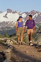 A couple hikes Whistler Mountain, summer day.