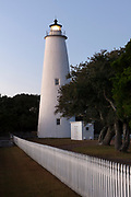 NC00818-00...NORTH CAROLINA - Ocracoke Lighthouse built in 1823 on Ocracoke Island is part of the Outer Banks.