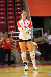 31 Aug 2010: Tabitha Visk. The Illinois State Redbirds trumped the Rambles of Loyola-Chicago 3 sets to none at Redbird Arena on the campus of Illinois State University in Normal Illinois.