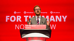 © Hugo Michiels Photography. 24/09/2017. Brighton, UK. Brighton Kemptown MP Lloyd Russell-Moyle addresses the 2017 Labour party conference delegates on the opening day of the conference in Brighton. Photo credit: Hugo Michiels Photography