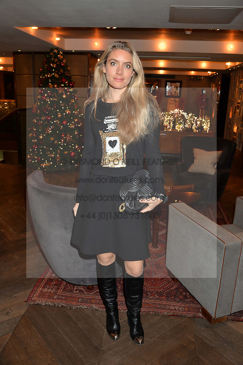LONDON, ENGLAND 2 DECEMBER 2016: <br /> Lucinda Edwards at a breakfast attended by a host of influencers, press and VIPs to celebrate the official launch of EVARAE the new British luxury resort wear brand, held at The Hari Hotel, 20 Chesham Place, London.  England. 2 December 2016.