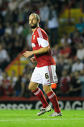 Bristol City's Louis Carey  - Photo mandatory by-line: Dougie Allward/JMP - Tel: Mobile: 07966 386802 04/09/2013 - SPORT - FOOTBALL -  Ashton Gate - Bristol - Bristol City V Bristol Rovers - Johnstone Paint Trophy - First Round - Bristol Derby