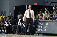 HIGH POINT, NC - JANUARY 06: Charleston Southern head coach Barclay Radebaugh. The High Point University of Panthers hosted the Charleston Southern University Buccaneers on January 6, 2018 at Millis Athletic Convocation Center in High Point, NC in a Division I men's college basketball game. HPU won the game 80-59.