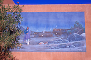 Mural at the Pueblo Indian Cultural Center, Albuquerque, New Mexico USA