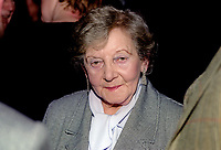 Helen Lewis, Belfast - choreographer and dance teacher - Nazi Holocaust survivor. She settled in Northern Ireland after WWII. Born in Czechoslovakia, she trained as a dancer and having made a new life in Belfast became involved in dance teaching and choreography. She had a long association with her adopted city's Lyric Theatre. In 1992 she published a widely acclaimed autobiography A Time To Speak which recounted her wartime experiences. 199910277<br /> <br /> Copyright Image from Victor Patterson, 54 Dorchester Park, <br /> Belfast, UK, BT9 6RJ<br /> <br /> t1: +44 28 9066 1296 (from Rep of Ireland 048 9066 1296)<br /> t2: +44 28 9002 2446 (from Rep of Ireland 048 9002 2446)<br /> m: +44 7802 353836<br /> <br /> e1: victorpatterson@me.com<br /> e2: victorpatterson@gmail.com<br /> www.victorpatterson.com<br /> <br /> Please see my Terms and Conditions of Use at www.victorpatterson.com. It is IMPORTANT that you familiarise yourself with them.<br /> <br /> Images used on the Internet must be visibly watermarked i.e. © Victor Patterson<br /> within the body of the image and copyright metadata must not be deleted. Images <br /> used on the Internet have a size restriction of 4kbs and will be chargeable at current<br />  NUJ rates unless agreed otherwise.<br /> <br /> This image is only available for the use of the download recipient i.e. television station, newspaper, magazine, book publisher, etc, and must not be passed on to any third <br /> party. It is also downloaded on condition that each and every usage is notified within 7 days to victorpatterson@me.com<br /> <br /> The right of Victor Patterson to be identified as the author is asserted in accordance with The Copyright Designs And Patents Act (1988). All moral rights are asserted.