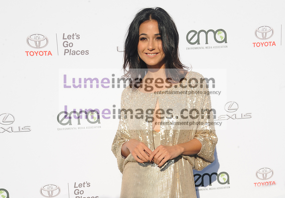 Emmanuelle Chriqui at the Environmental Media Association's 27th Annual EMA Awards held at the Barker Hangar in Santa Monica, USA on September 23, 2017.