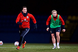 SAINT PETERSBURG, RUSSIA - Sunday, October 22, 2017: Wales' Helen Ward during a training session at the Petrovsky Minor Sport Arena ahead of the FIFA Women's World Cup 2019 Qualifying Group 1 match between Russia and Wales. (Pic by David Rawcliffe/Propaganda)