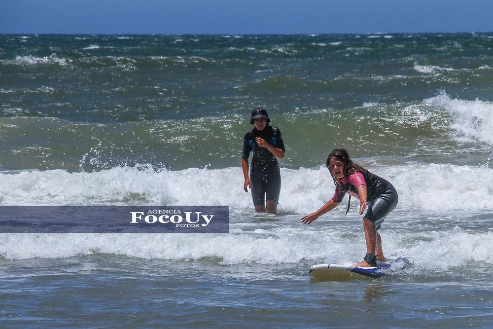 Rocha,  Uruguay. 11 de Enero de 2018.  <br /> Balneario La Pedrera. Playa, Surf<br /> Foto: Gast&oacute;n Britos / FocoUy