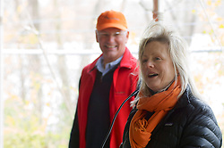Phil Wallis, Executive Director of Audubon PA and Katie Newsom Pastuszek, Executive Director<br /> Philadelphia Outward Bound School. <br /> <br /> With a ceremonial singing of the lease Philadelphia Outward Bound School and Audubon Pennsylvania kick of the Discovery Center project in the East Fairmount Park section of the city. (Bas Slabbers/for Philadelphia Outward Bound School)