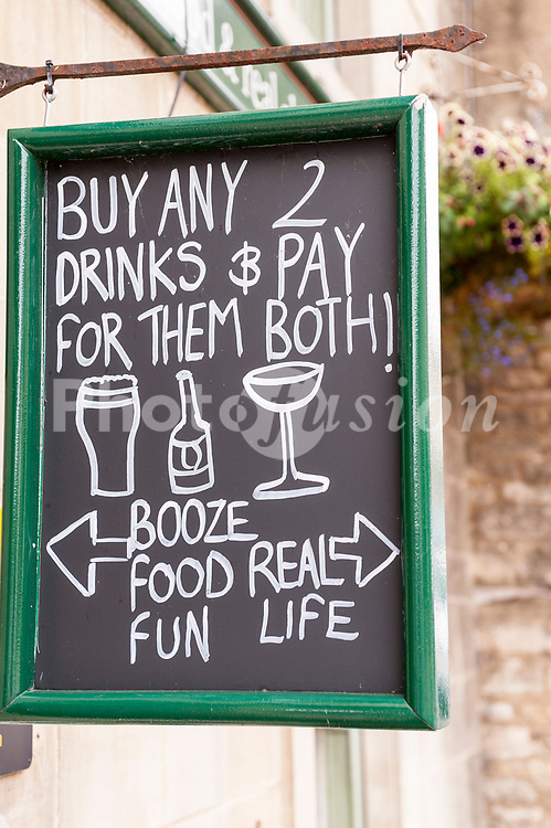 An amusing Uk pub sign