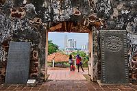Malaisie, état de Malacca, Malacca, Centre historique, patrimoine Mondial de l'Unesco, ruines de l'eglise Saint Paul // Malaysia, Malacca state, Malacca, Unesco Wold Heritage, St Paul church remain