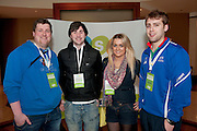 25/03/2013  Letterkenny IT Students Ian O Neill, Mark O Doherty, Tanya Russell and Brian Elwaine  at the USI (Union of Students in Ireland) Congress 2013 in the Shearwater Hotel in Ballinasloe, Co. Galway.   Picture:Andrew Downes.
