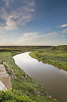 Milk River flowing through Writing on Stone Provincial Park Alberta Canada
