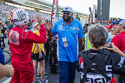 June 9, 2018 - Fort Worth, Texas, U.S - Former Dallas Cowboy's football star. Ed ''too tall'' Jones in action before the DXC Technology 600 race at Texas Motor Speedway in Fort Worth,Texas. (Credit Image: © Dan Wozniak via ZUMA Wire)