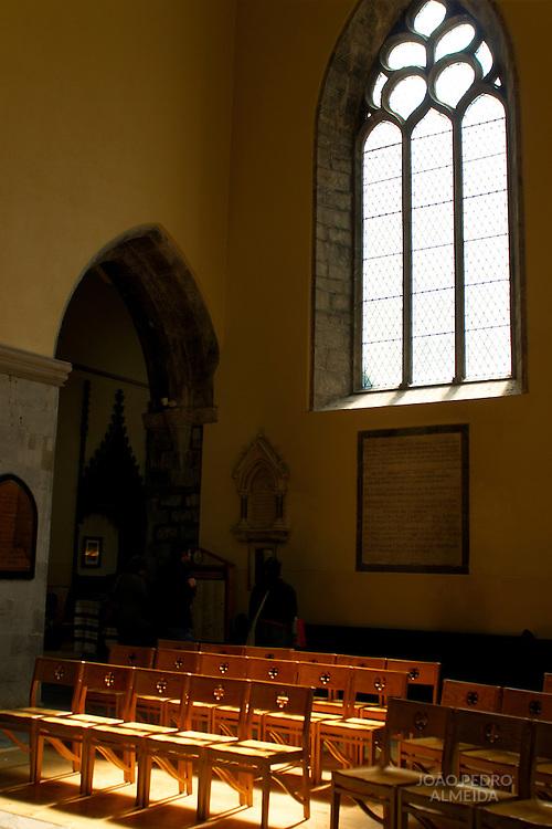 Interior of a church at Gallway, Ireland