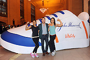 Chris O'Donnell poses with boot camp participants at the John Hancock Vitality Village in New York, Wednesday, April 8, 2015, to celebrate the launch of John Hancock's whole new approach to life insurance that rewards consumers for healthy living. For more information, visit JHRewardsLife.com.  (Photo by Diane Bondareff/Invision for John Hancock Financial/AP Images)