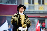 Francis Huster est l'invité d'honneur de l'édition 2014 du spectacle historique de l'Ommegang, a la Grand Place de Bruxelles.<br />  Belgique, Bruxelles, 03 juillet, 2014.