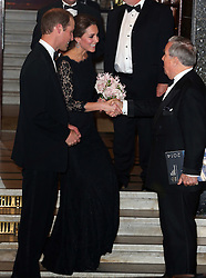 The Duke and Duchess of Cambridge leaving the Royal Variety Performance at the London Palladium, London, UK. 13/11/2014<br />BYLINE MUST READ : JAMESY/GOTCHA IMAGES<br /><br />Copyright by © Gotcha Images Ltd. All rights reserved.<br />Usage of this image is conditional upon the acceptance <br />of Gotcha Images Ltd, terms and conditions available at<br />www.gotchaimages.com
