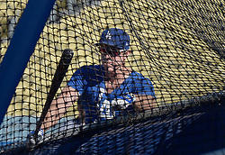 August 16, 2017 - Los Angeles, California, U.S. - Los Angeles Dodgers' Chase Utley during batting practice prior to a Major League baseball game against the Chicago White Sox at Dodger Stadium on Wednesday, Aug. 16, 2017 in Los Angeles. (Photo by Keith Birmingham, Pasadena Star-News/SCNG) (Credit Image: © San Gabriel Valley Tribune via ZUMA Wire)
