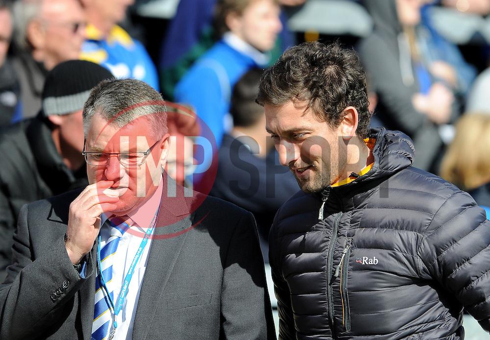 Che Wilson with Tony Mills - Photo mandatory by-line: Neil Brookman/JMP - Mobile: 07966 386802 - 11/04/2015 - SPORT - Football - Bristol - Memorial Stadium - Bristol Rovers v Southport - Vanarama Football Conference