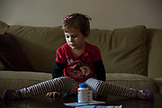 LOS ANGELES, CA | November 1, 2017<br /> Aviva Williams four-year-old daughter Amy contracted pinworms and a stomach parasite. Treatment of which in other countries would cost pennies. The drug cost $724 for a four-tablet treatment, and according to her drug plan, CVS Caremark, her out-of-pocket cost was $250. (Melissa Lyttle for The New York Times)