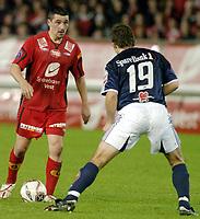 fotball, tippeligaen, 03 Oktober 2005, Brann - Viking, resultat 2-1, Charlie Miller, Brann, Trygve Nygaard, Viking.